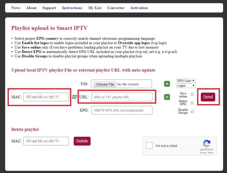 IPTV on Samsung Smart TV