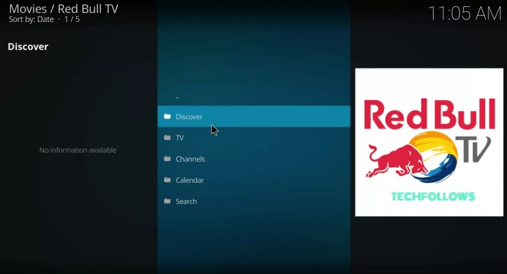 Launch Red Bull TV Addon