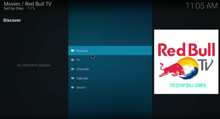 Launch Red Bull TV Addon