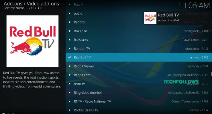 Red Bull TV Kodi Addon