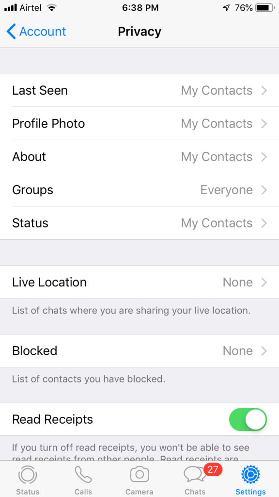 How to Hide Whatsapp Last Seen on iPhone