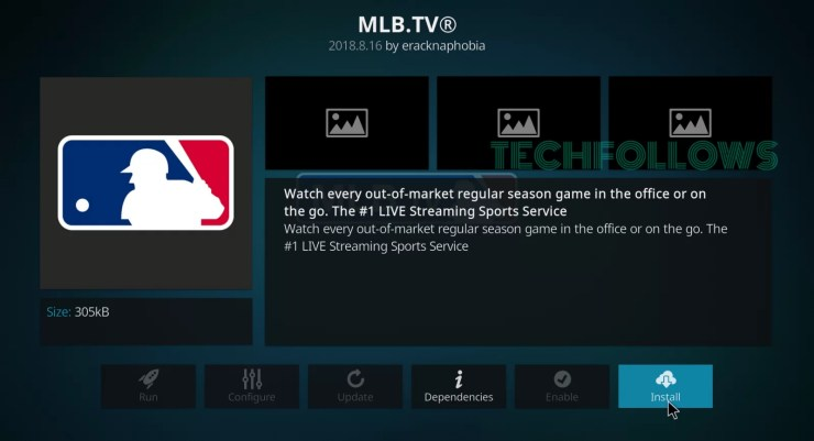 MLB.TV Kodi Addon
