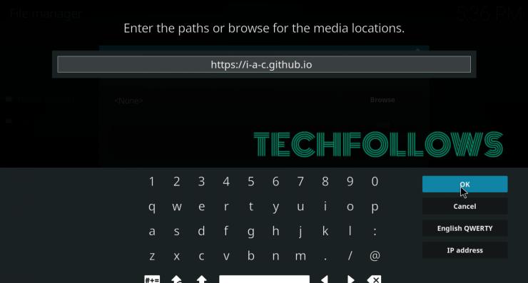 Enter Source URL