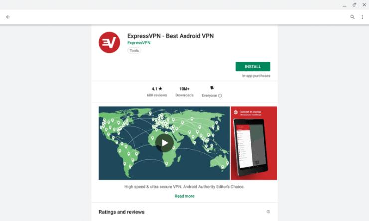 VPN on Chromebook