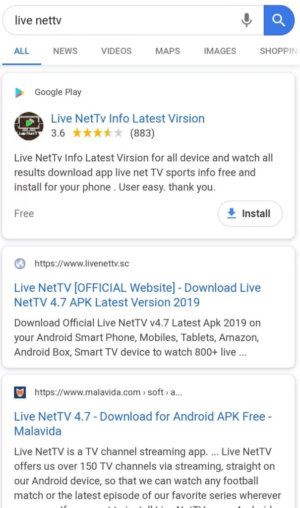 Live NetTV Apk - Installation Guide for Android Mobiles