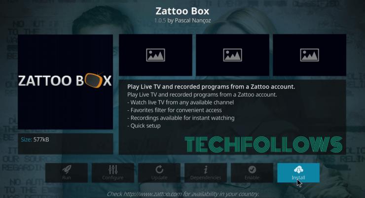 Zattoo Box Kodi Addon