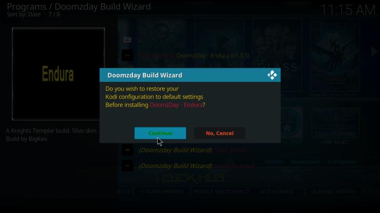 Doomzday Kodi Builds