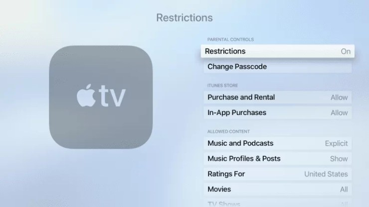 How to Set Parental Controls on Apple TV?