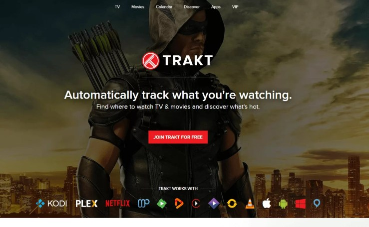 Select Join Trakt for Free