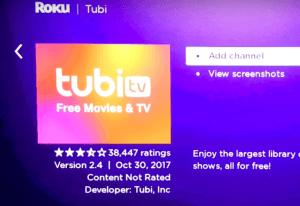Tubi TV on Roku