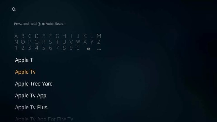 Search for Apple TV