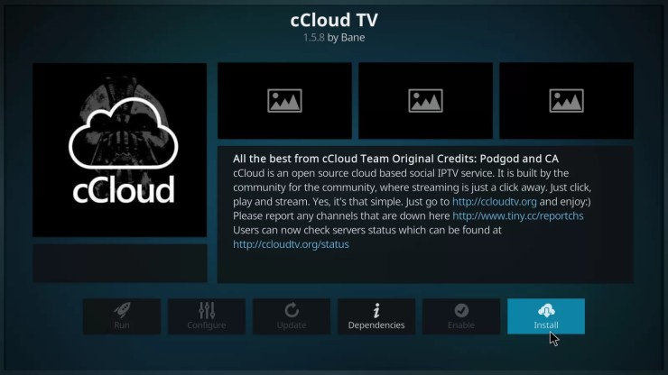 cCloud TV Addon