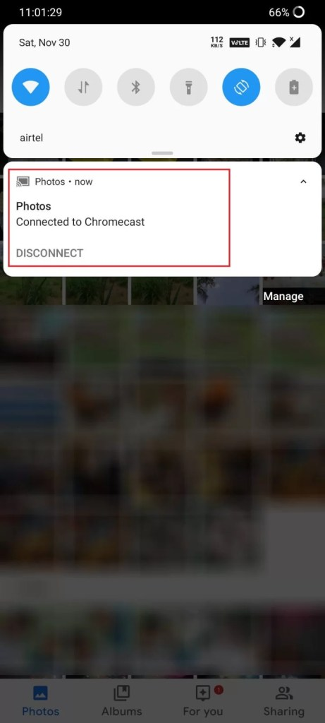 Chromecast Google Photos using Smartphone