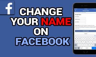 change name on facebook