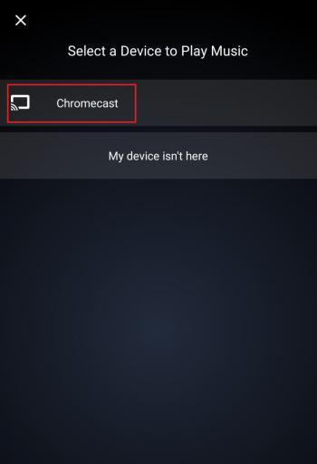 Chromecast Amazon Music
