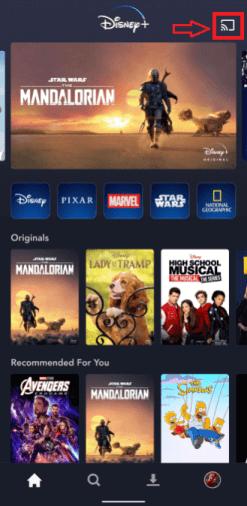 Chromecast Disney+ (Plus)