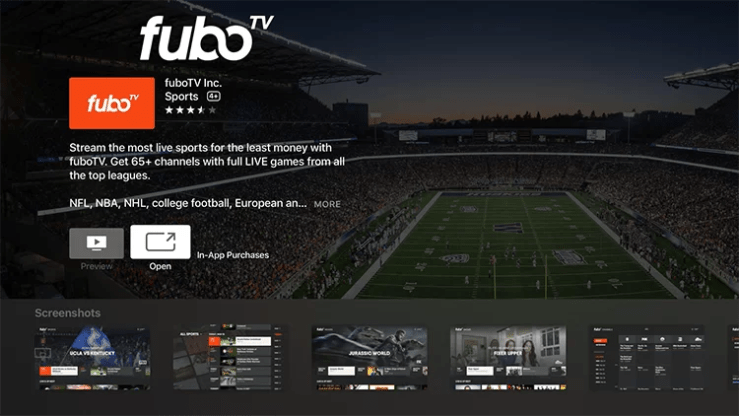 Install fuboTV on Apple TV