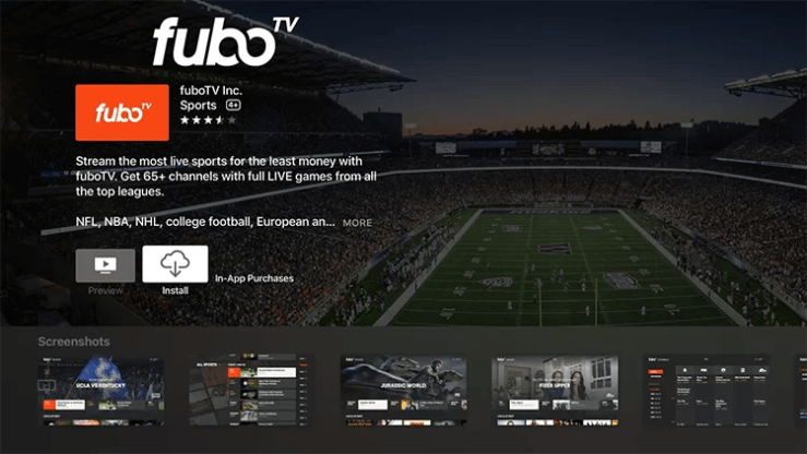 Download fuboTV on Apple TV
