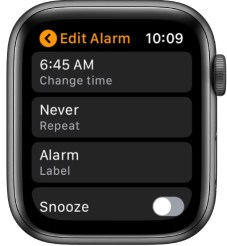 Edit Alarms on Apple Watch