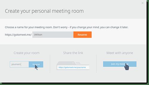 Create a Meet on GoToMeeting