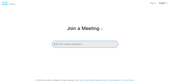 Join a meeting on cisco webex