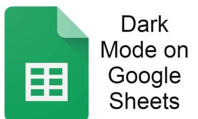 Google Sheets Dark Mode