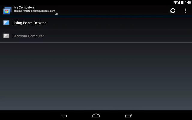 Google Chrome Remote app