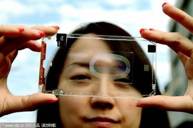 transparent mobile phones