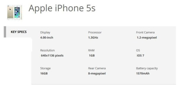 iphone 5s-specs-techfoogle.com