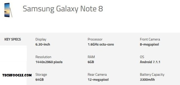Samsung_Galaxy_Note8_Specs-Techfoogle