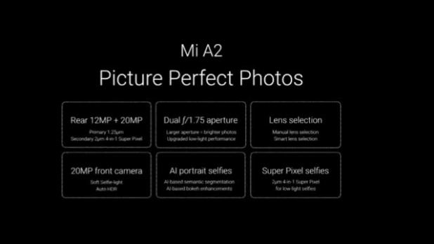 Mi A2 Camera Features