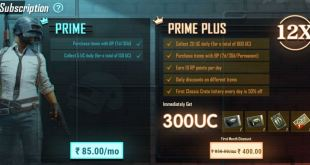 Pubg Mobile India Prime and Prime Plus Subscriptions Plains