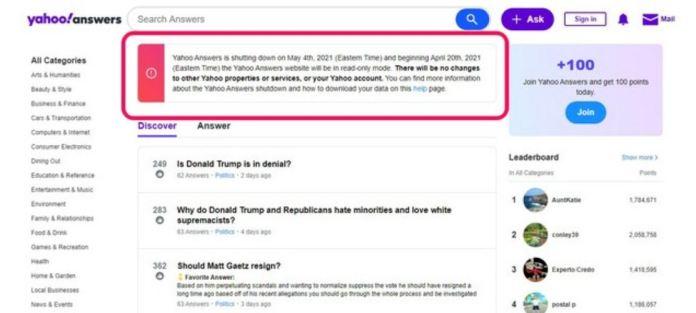 Yahoo-answers-shutting-down-on-May-4