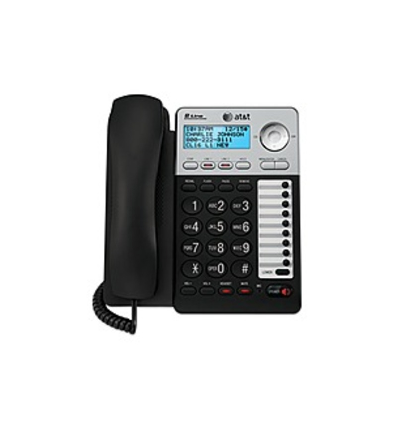 A practical solution for every home office, the AT&T ML17939 corded speakerphone supports up to two lines and caller ID/call waiting with a 99-name/number caller ID history. You can customize the ringer tones for both lines so it's easy to keep track of who's calling. ML17929