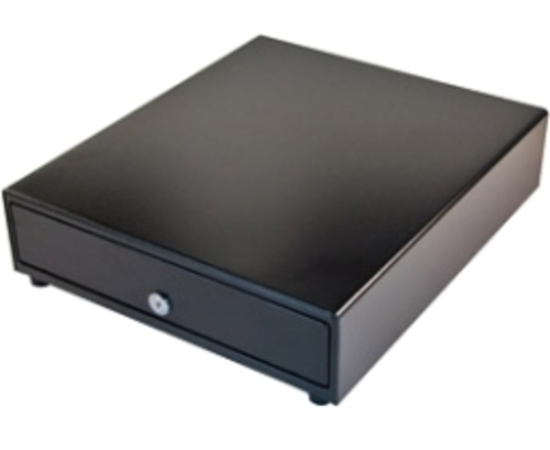 The APG Cash Drawer Vasario Series VP320-BL1416 Electronic Cash Drawer is the perfect solution for applications that can be addressed with a standard duty cash drawer.