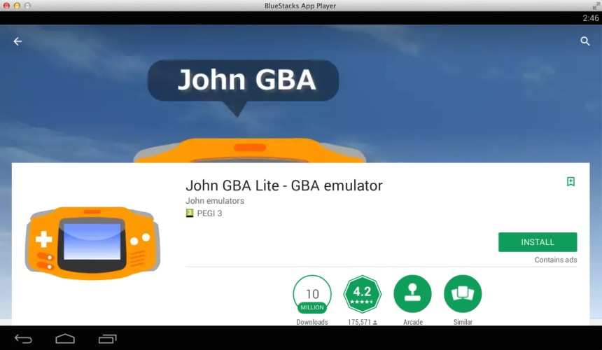 john gba emulator apk free download