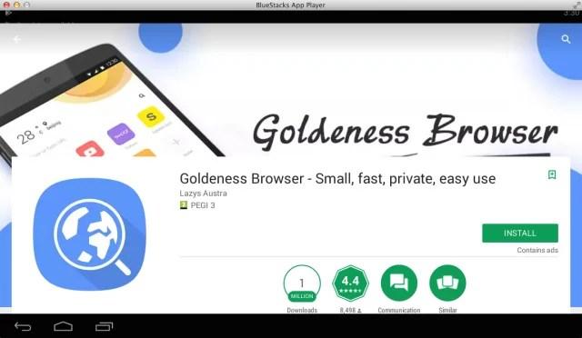Goldeness-Browser-PC-BlueStacks-Emulator