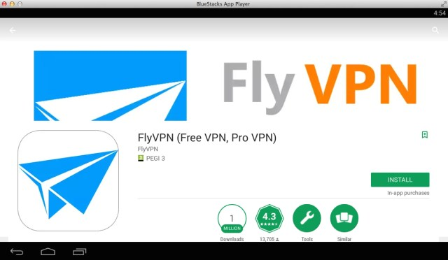 download-flyvpn-on-pc-bluestacks
