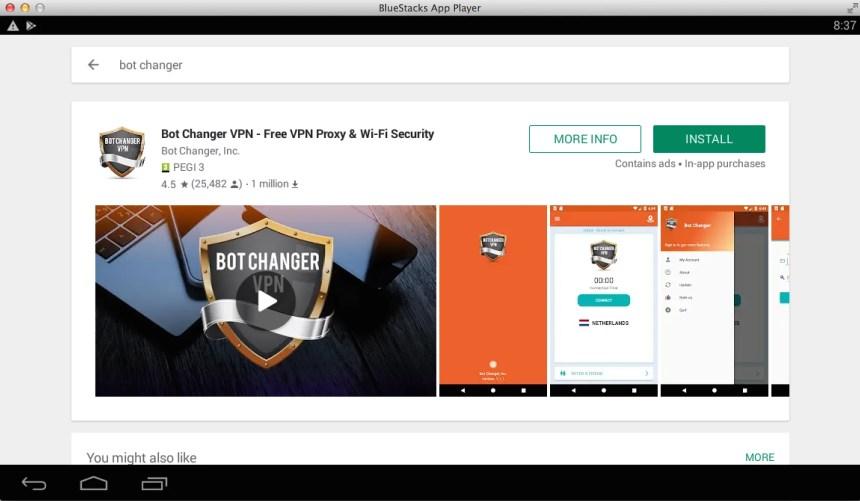 Bot-Changer-VPN-PC-Download-Via-BlueStacks