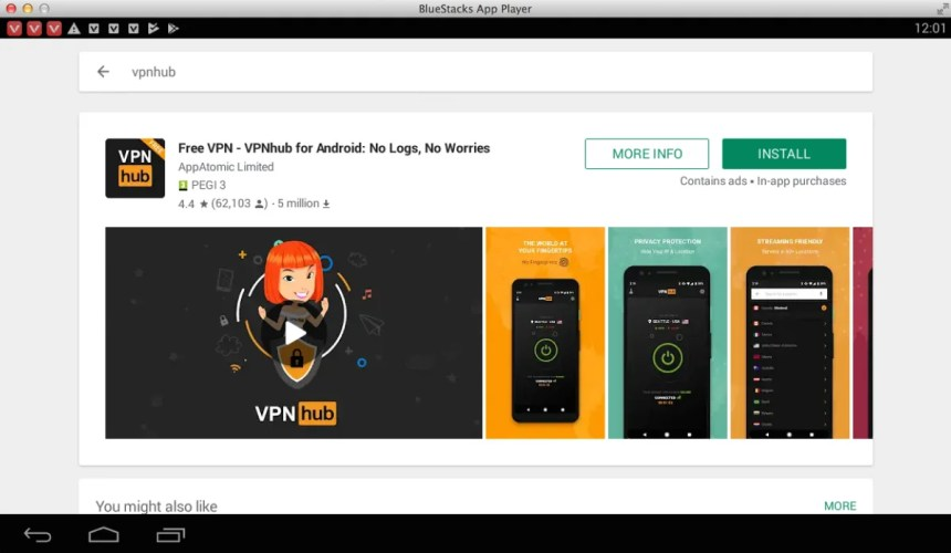 download-vpnhub-for-pc-using-bluestacks-emulator