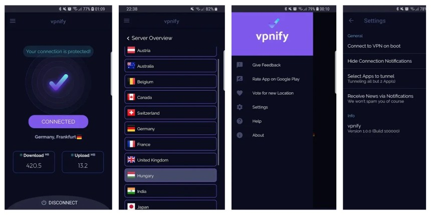 vpnify-android-screenshots