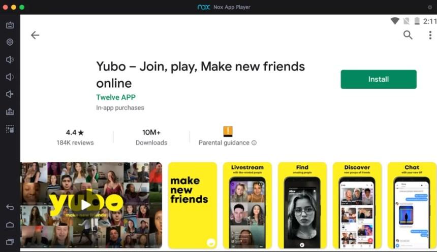 yubo-on-pc-via-android-emulator