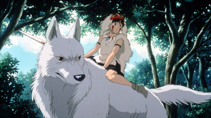 "CA.SU.Mononoke.1219.HO––**EXCLUSIVE**Slide# 15Scene from ""Princess Mononoke."" NEED I.D.sPhoto/Art by:Handout Art"