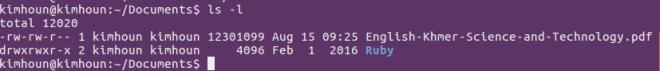 linux-ls-l