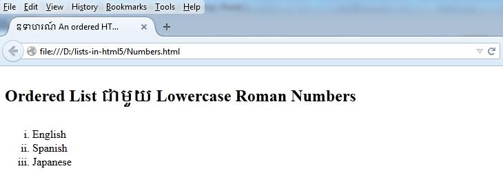 lowercase-roman-number
