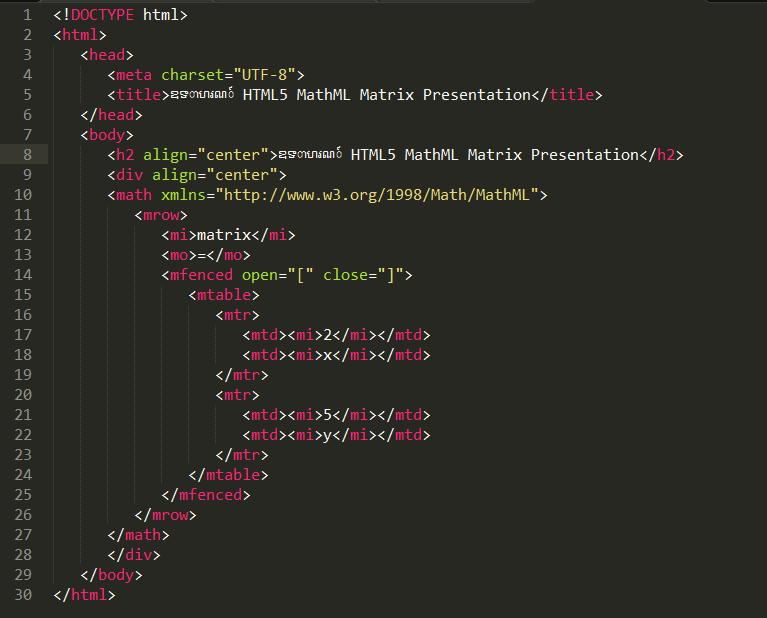 matrix-coding
