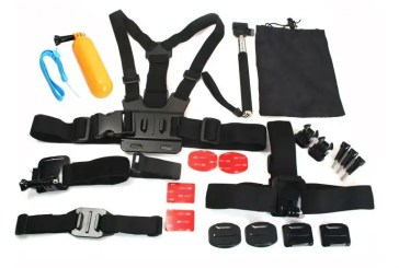 AT435 Kit 23 Accessories for Gopro Hero 3 / 4 / 3+ / SJ5000 Xiaomi Yi Action Cam