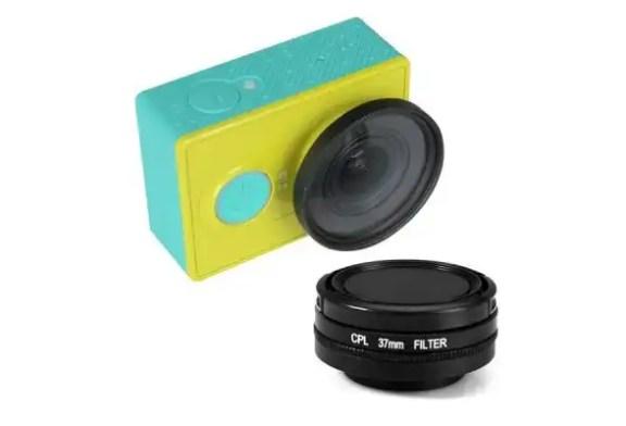 Polarizer for Xiaomi Yi: 37mm Filter + Lens Cover Set
