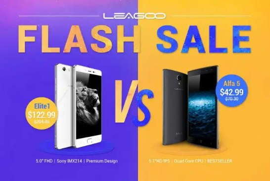 Leagoo Elite 1 and Alfa 5 flash sale