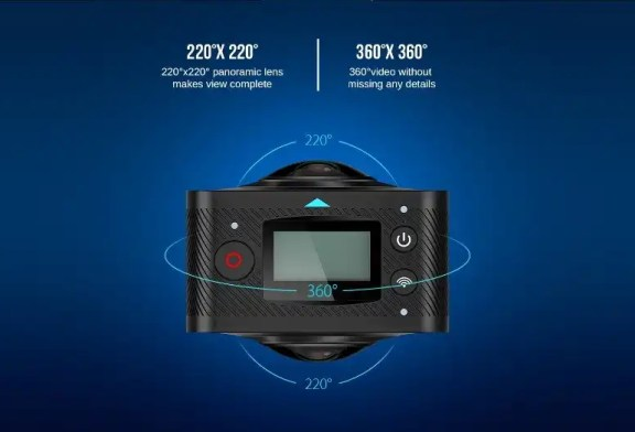 Elephone Elecam 360 WiFi Action Camera Dual Lens overview